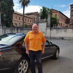 Vinnie our driver from RomeInLimo with his car. A true gent.