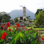 view from La Fortuna taxi stand