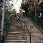 Steps down from hotel to Cowper Wharf Rd