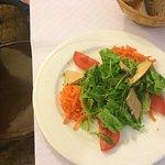 Entrée! Foie gras salad!