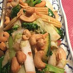 Stir fry veg with cashew nuts