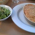 Lasagne aux poulet maison et salade