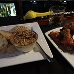 crab dish and wings