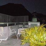 La terrasse vue de nuit