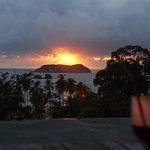 Rooftop bar sunset view