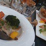 Repas exquis dans un cadre idyllique