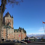 One block from hotel across park is the Chateau du Frontenac, the river and the promenade.