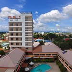 Drone picture of the hotel