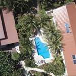 90 degrees bird's eye view of Hotel Pochote Grande