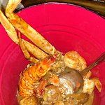 curry steampot--snowcrab, lobster, shrimp and potatoes