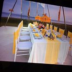 private dinner setting for 50th wedding anniverary