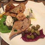 Mediterranean sampler is great for sharing
