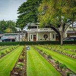 Soldatenfriedhof in Kanchanaburi Foto