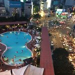 View from room - Saigon Soul pool party and street