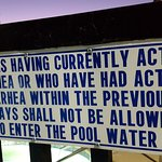 Funny sign at the play pool area