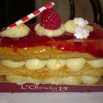 Porción de pastel de navidad