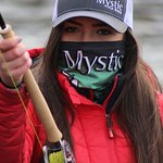 Jen our Guide throwing the Mystic M-Series Switch rod.
