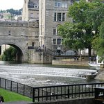 View of Pulteney Bridge from the near-by gardens.