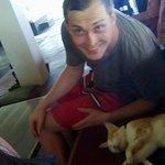 selfie with the resort's cat