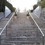 蓮華寺 裏門への階段