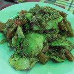 Beef and cauliflower, avocado salad