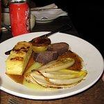 Wild boar sirloin, dauphinoise potatoes