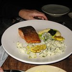 Sea trout with cauliflower