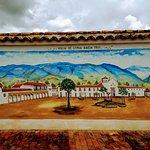 Hermoso mural de la antigua Villa de Leyva!