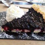 La tarte aux myrtilles. Du bonheur dans l'assiette !