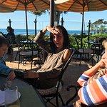 restaurant patio with ocean views