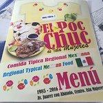 Comida Tipica menu