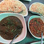 Pilau Rice, and veggie dishes