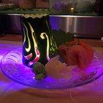 sashimi with cucumber candleholder
