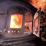 Traditional cast iron log burner