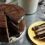 house made tuaca chocolate mousse cake