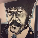 We had a giant Samuel L. Jackson mural in our room nbd.