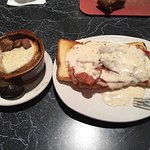 French Onion Soup and the Hot Brown.