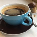 Americans coffee at The Parlour, Fortnum & Mason - yes, that is a real miniature ice cream cone!
