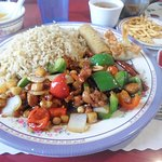 Kung Pao Chicken lunch meal