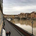 Balcony view of the Ponte Vecchio