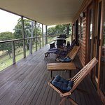 The perfect deck to watch the sunset or even catch a glimpse of the eagle soaring the skies!
