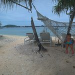 the hammock at the beach in front ot Mahamaya
