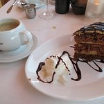 Chocolate cake & coffee - delicious