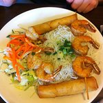 Vermicelli bowl with Shrimp and Spring Rolls