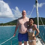 Our snorkel/beach stop on St. John...
