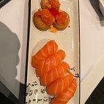 Salmon Sushi Pizza & Salmon Sushi