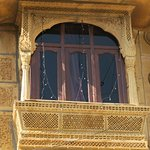 The balcony of a house of the local resisdent..