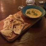 complimentary bread and hummus - yum