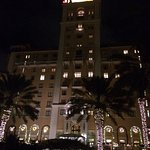 Gorgeous view of the Biltmore at night from the front of the property.