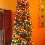 Beautiful Christmas tree in the lobby